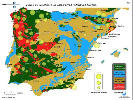 Mapa buscar oro en España